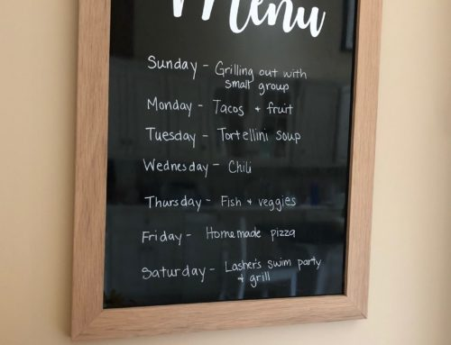 DIY Kitchen Menu Board