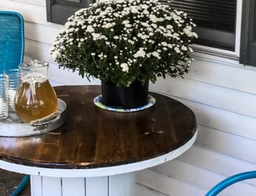 Our Front Porch Spool Table